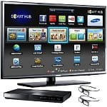 "55"" Samsung UN55EH6070 1080p 120Hz 3D LED HDTV + Samsung BD-E5900 3D WiFi Blu-ray Player + 2 Pairs of 3D Glasses"