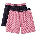 2-pack Men's Jockey Patterned Full-Cut Boxers (various styles and colors)