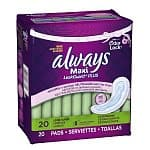 40-count Always Maxi LeakGuard Plus Odor-Lock Lightly Scented Pads