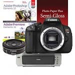 Canon EOS Digital Rebel T4i 18MP SLR Camera (Body) + EF 40mm f/2.8 STM Pancake Lens + Pixma Pro 9000 Printer + Photoshop & Premiere Elements 10