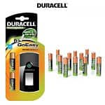 Duracell GoEasy Charger w/ 2 AA  + 12 AAA Precharged Batteries  $20, Maxell BC-100 AC/USB Charger w/ 2 AA + 10 AA Precharged Batteries