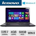 "Lenovo IdeaPad Z580 Laptop: Core i7 3520M 2.9GHz, 4GB DDR3, 500GB HDD, 15.6"" 1366x768 LED, Intel HD 4000, WiFi N, 6-cell, Windows 8"