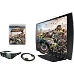 "24"" Sony PlayStation 3D LED 1080p Monitor w/ 3D Glasses & MotorStorm Apocalypse Game"