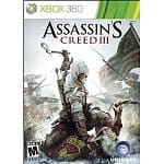 Xbox 360 Games: Assassin's Creed 3 $25, Forza Horizon $15, Madden NFL 2013 $25, FIFA Soccer 13 $25, Dance Central 3 $15, Fable the Journey