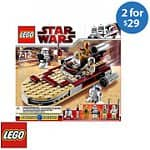 Two Select LEGO Building Sets: Star Wars Luke's Landspeeder, Star Wars Desert Skiff Play Set, City Police Chase, Ninjago Jay's Storm Fighter, & More