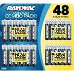 Rayovac Alkaline Battery Combo Pack: 24-count AA + 24-count AAA Batteries