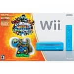 Nintendo Wii Console (Blue) w/ Skylanders Giants Bundle