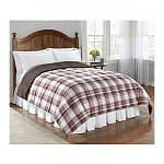 LivingQuarters Reversible Microfiber Down-Alternative Comforter in Twin, Full/Queen, or King (various colors)