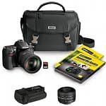 Nikon D7000 16.2MP Digital SLR Camera w/ 18-200mm DX VR II Lens + 50mm f/1.8D Lens + Vello Battery Grip