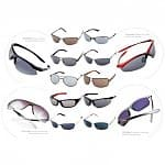 9 Pairs of Men's or Women's Branded Sunglasses