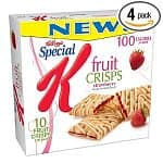 4-pack 4oz Special K Sea Salt Cracker Chips $7, 4-pack 10-count Special K Fruit Crisps (Strawberry)