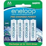 8-Pack Sanyo 1500 Eneloop AA Ni-MH 2000 mAh Pre-Charged Low Self-Discharge Rechargeable Batteries