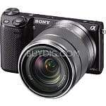 Sony NEX-5R 16.1MP Compact Interchangeable Lens Digital Camera (Black or Silver) w/ 18-55mm Lens + 16mm f2.8 Lens + $100 Visa Gift Card