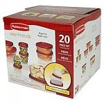 20-Piece Rubbermaid Easy Find Lids Storage Set $7.19 with free store pickup