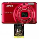 Nikon Coolpix S6500 16MP WiFi 12x Optical Digital Camera in Red (Refurbished) + Adobe Photoshop Lightroom 5 $99 with free shipping