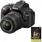 Nikon D5200 24.1MP Digital SLR Camera with 18-55mm f/3.5-5.6G VR Lens (Refurbished) + Adobe Lightroom 5 $499.99 with free shipping