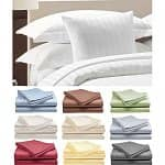 2-Sets of Hotel Life Deluxe 100% Cotton Sateen Sheets (Full, Queen, or King)