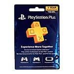 1-Year PlayStation Plus Membership $40 with free shipping (eBay Daily Deal)
