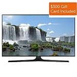 "50"" Samsung UN50J6300 1080p Smart LED HDTV (2015 Model) + $300 Dell eGift Card  $897.99 with free shipping"
