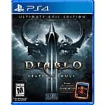 Diablo III: Ultimate Evil Edition: PS4/Xbox One $30, PS3/Xbox 360  $20