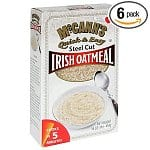 McCANN'S Steel Cut Irish Oatmeal, Quick & Easy, 16-Ounce Boxes (Pack of 6) $11, Kraft Blue Box Macaroni & Cheese, 7.25-Ounce Boxes (Pack of 15)
