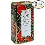 2-pack 1-Liter Tins of Zoe Extra Virgin Olive Oil