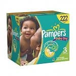 222-count Pampers Baby Dry Diapers (size 3)