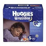 56-count Huggies Overnites Diapers (Size 5): 1 for $12, 2 for $14, 3 for $15.50