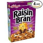 4-pack 20-oz Kellogg's Raisin Bran Cereal