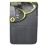 4-piece WeatherHandler All Season Rubber Floor Mat Set (various colors)