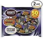 Hershey's & Nestle Halloween Snacks: 2-pack 26.7-oz Hershey's Halloween Assorted Snack Size $7, 2-pack 22-oz Halloween Scare 'n' Share Snack Size $7.50, 2-pack 32-oz Nestle Ultimate Scream $9
