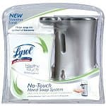Lysol Products: Stainless Touch Hand Soap Starter Kit $7.50, Total Care Touch Hand Soap Starter Kit $7.50, 12-pack 24-oz Toilet Bowl Cleaner $18, 6-pack 22-oz Anibacterial Kitchen Cleaner