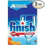 2-pack 75oz Finish Powder Dishwasher Detergent (Orange Fresh)