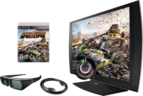 "24"" Sony PlayStation 3D LED 1080p Monitor w/ 3D Glasses & MotorStorm Apocalypse Game $100 + Free Shipping"
