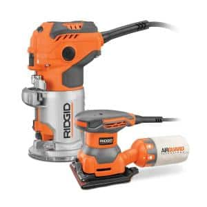 RIDGID Trim Router R24011 with Free 1/4 in. Sheet Sander Pack In - $89 W/FS - 12/22 - homedepot.com