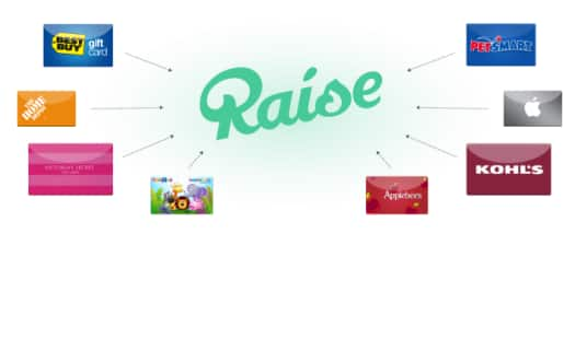 Raise: $5 off $50+ or $10 off $125+ Gift Cards: JCPenney up to 25% off, Starbucks up to 22% off, Victoria's Secret up to 11% off  & More