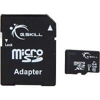 eBay Deal: 64GB G.Skill Class 10 UHS-1 MicroSDXC Memory Card w/ Adapter