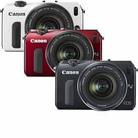 eBay Deal: Canon EOS M 18MP Compact Digital Camera w/ 18-55mm Lens (Black, Red or White) $249.99 with free shipping