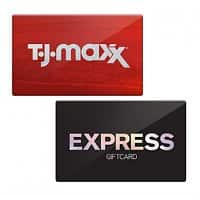 CardCash.com Deal: Extra 6% off Select Gift Cards: TJ Maxx: $92 GC for $74.50, Express: $50 GC for