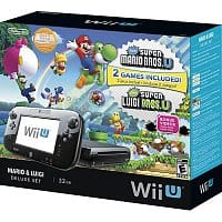 Best Buy Deal: 32GB Nintendo Wii U Black Deluxe Set w/ Super Mario U & Super Luigi U Games $259.99 with free shipping for Best Buy Members