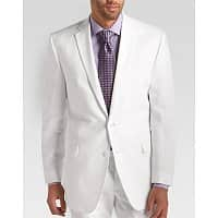 Men's Wearhouse Deal: Men's Calvin Klein Linen Suit (White)