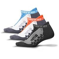 Rakuten Deal: 3-Pairs Thirty48 Unisex Running Socks with CoolMax (Various Colors)