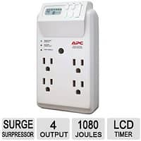 TigerDirect Deal: 4-Outlet APC Power-Saving SurgeArrest Surge Protector $6.99 with free shipping