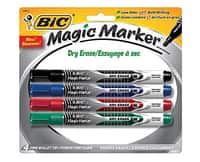 Staples Deal: 4-pack BIC Magic Marker Dry-Erase Markers