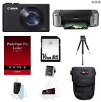 Focus Camera Deal: Canon PowerShot S110 12.1MP Digital Camera + Pixma Pro-100 Printer + 50-pack Photo Paper + 16GB Class 10 Memory Card $165 AR with free shipping