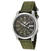 Rakuten (Buy.com) Deal: Seiko Men's Seiko 5 Automatic Green Canvas Strap Watch $44 with free shipping
