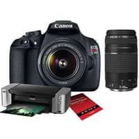 Adorama Deal: Canon EOS T5 DSLR w/ 18-55mm + 75-300mm Lens + Pro-100 Printer