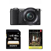 eBay Deal: Sony Alpha A5000 Camera w/ 16-50mm Lens + 16GB Sony Card + Lightroom 5 $298 with free shipping
