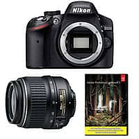 eBay Deal: Nikon D3200 24.2MP Digital SLR Camera w/ 18-55mm VR Lens + Adobe Lightroom 5 (Refurbished) $299.99 with free shipping