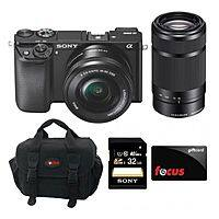 Focus Camera Deal: Sony Alpha A6000 Interchangeable Lens Camera w/ 16-50mm Lens and 55-210mm Lens + $50 Focus Camera Gift Card + 32GB Sony Class 10 Card $748 with free shipping